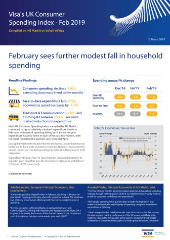 Visa's UK Consumer Spending Index - February 2019