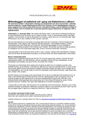 Milliardbyggeri af pakkehub sat i gang ved Københavns Lufthavn