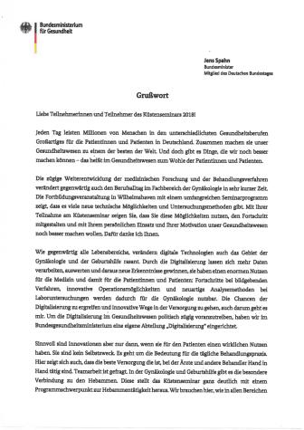 Grußwort Minister Spahn - Küstenseminar