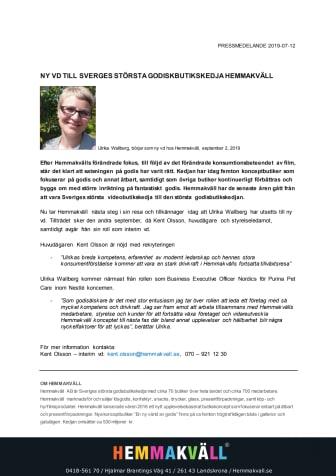 NY VD TILL SVERIGES STÖRSTA GODISBUTIKSKEDJA HEMMAKVÄLL