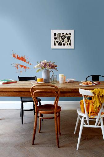 Flexa-Easycare-eetkamer-grijsblauw-vlek