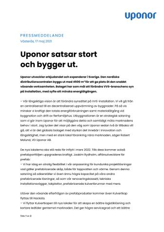 Pressmeddelande Uponor 210517.pdf