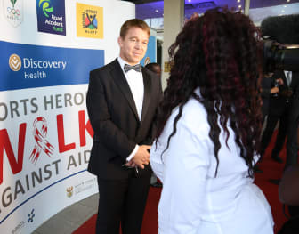 Former South African Rugby National Team Captain John Smith at the Discovery Health Sports Heroes Against Aids