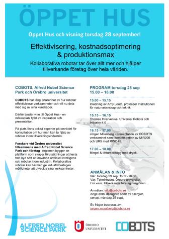 Cobots - Öppet Hus om effektivisering, kostnadsoptimering och produktionsmax!