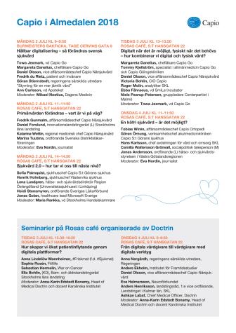Capio i Almedalen 2018