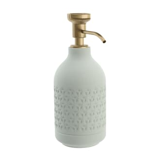 Pomd`or_x_Rosenthal_Equilibrium_Free_standing_soap_dispenser_Celadon_Hexagon_Bronze