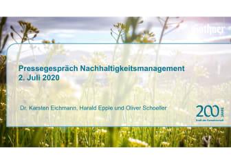 Präsentation Pressegespräch Gründung der Gothaer Stiftung zum 200-jährigen Jubiläum