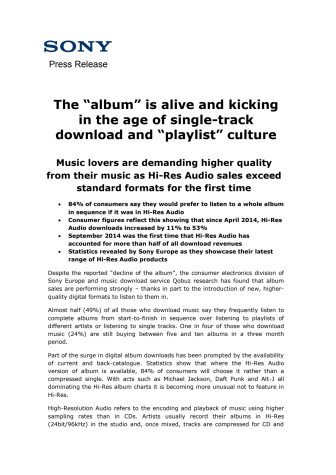 """""""Albummet"""" er spillevende i en tid med hit-download og playliste-kultur"""