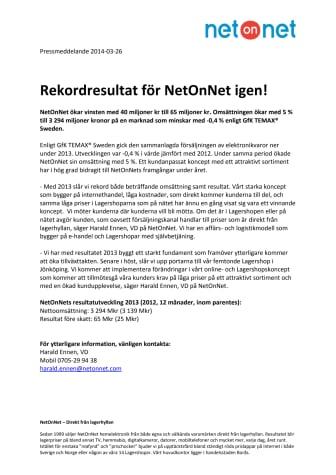 Rekordresultat för NetOnNet igen!