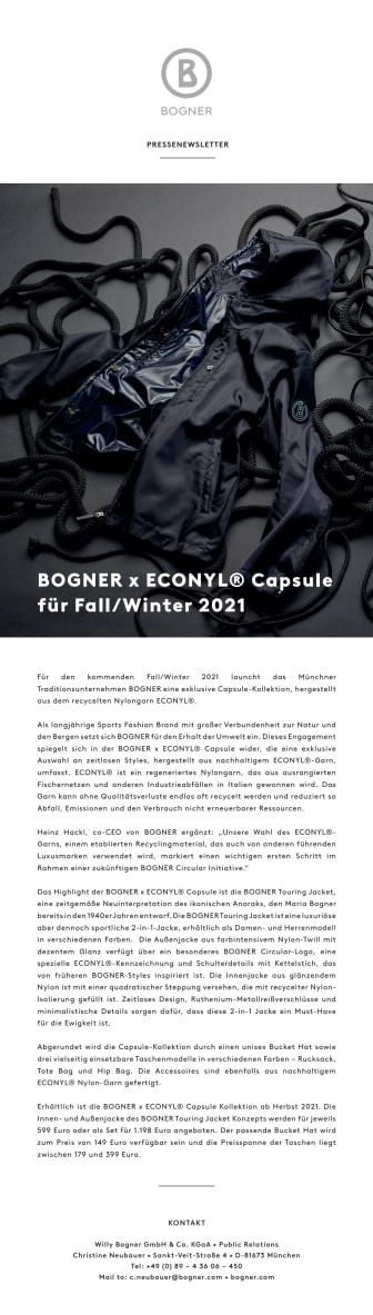 BOGNER x ECONYL® Capsule for Fall/Winter 2021
