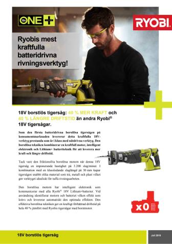 Ryobis mest kraftfulla batteridrivna rivningsverktyg är här!