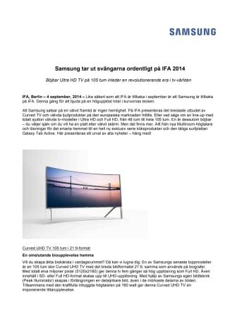 Samsung tar ut svängarna ordentligt på IFA 2014