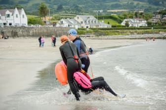 Sea swimming safety course at Ballygally