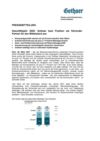 Pressemitteilung BPK Gothaer Konzern 26.03.2021