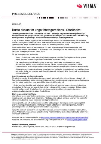 Bästa skolan för unga företagare finns i Stockholm