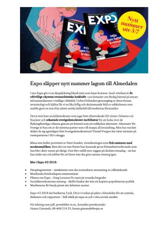 Expo släpper nytt nummer lagom till Almedalen