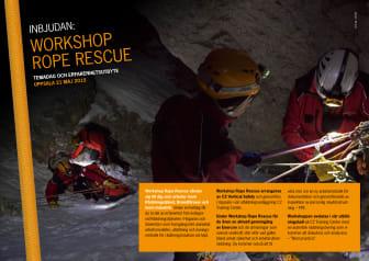 Inbjudan Workshop Rope Rescue 21 maj 2015