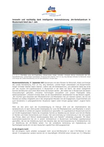 21-09-17 PM-dm feiert 1. Jahr Verteilzentrum in Wustermark.pdf