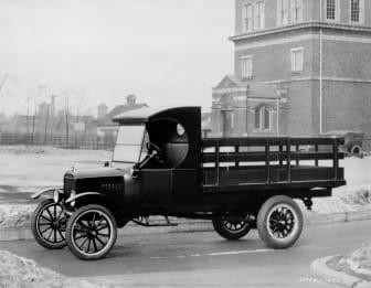 Ford TT 1924 med staketflak