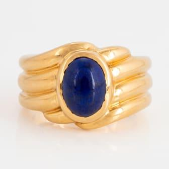 Van Cleef et Arpels ring 18K guld med lapis lazuli