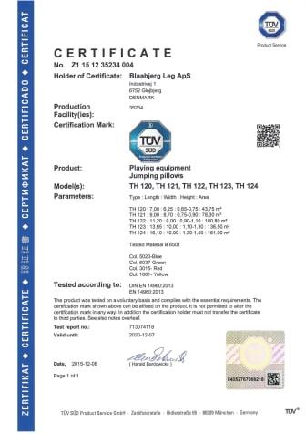TÜV certifikat hoppuddar