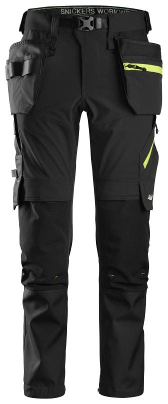 6940 Flexiwork, stretch bukse, svart