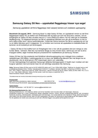 Samsung Galaxy S5 Neo - uppskattat flaggskepp hissar nya segel
