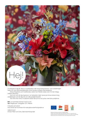 Pressinbjudan till utställningen Stars in combination with long lasting flowers