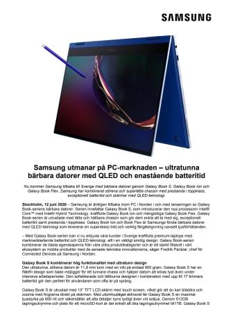 Samsung utmanar på PC-marknaden – ultratunna bärbara datorer med QLED och enastående batteritid