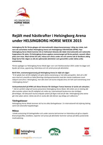 Rejält med hästkrafter i Helsingborg Arena under HELSINGBORG HORSE WEEK 2015