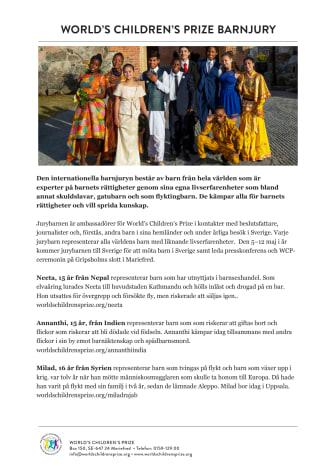 Barn från tretton länder besöker Sverige i maj 2019