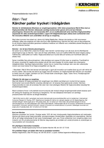 Kärcher K5 högtryckstvättar Bäst i Test i Råd & Rön