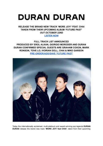 Duran Duran MORE JOY! - engelsk pressrelease.pdf