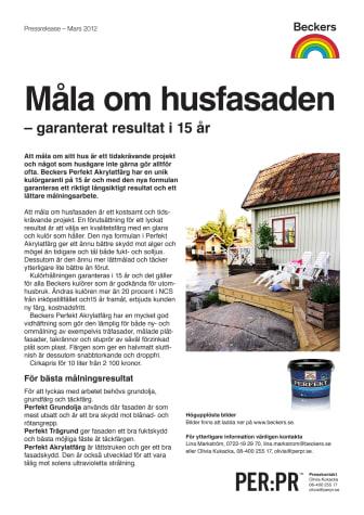 Måla om husfasaden – garanterat resultat i 15 år