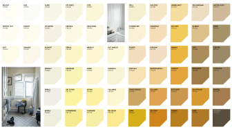 Fargekart Gulorange Farger