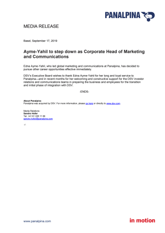 Ayme-Yahil to step down as Corporate Head of Marketing and Communications