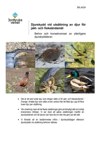 Rapport 2020:23 – Djurskydd vid utsättning av djur för jakt- och fiskeändamål