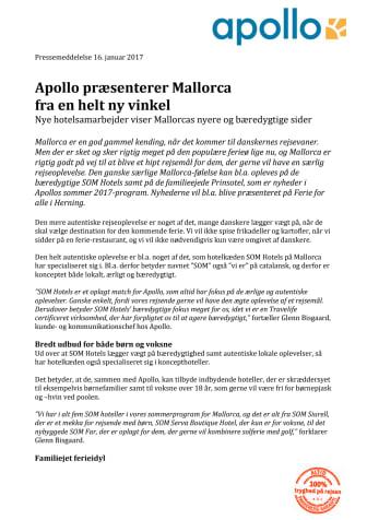 Apollo præsenterer Mallorca  fra en helt ny vinkel