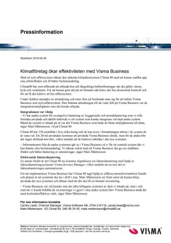 Klimatföretag ökar effektiviteten med Visma Business