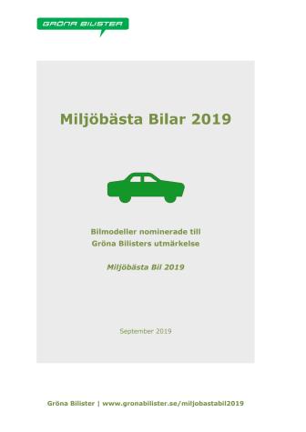 Miljöbästa Bilar 2019 v2