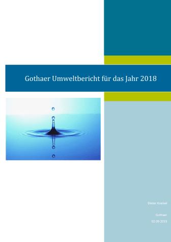 Gothaer Umweltbericht für das Jahr 2018