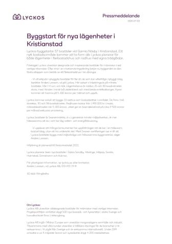 Byggstart för nya lägenheter i Kristianstad