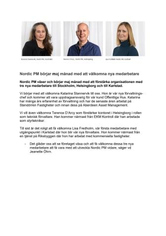 Nordic PM välkomnar nya medarbetare