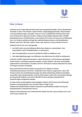 Unilever Deutschland @ Hamburgs Wertstoff Innovative