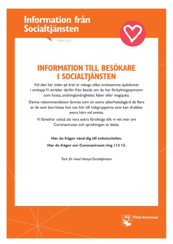 Information till besökare i Socialtjänsten
