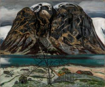 Nikolai Astrup: Kollen / Barren Mountain, olje på lerret, 1905–1906