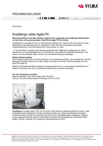 Svedbergs valde Agda PS