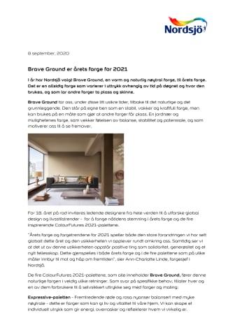 Brave Ground er årets farge for 2021