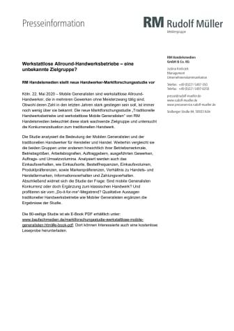 Werkstattlose Allround-Handwerksbetriebe – eine unbekannte Zielgruppe?