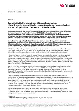 Suomalaiset työnhakijat haluavat hakea töitä sosiaalisessa mediassa